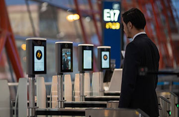 facial recognition biometrics at airport