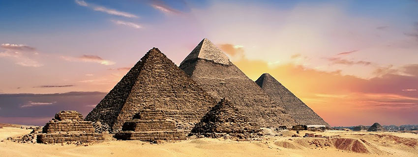 Great Pyramids at Giza, Egypt