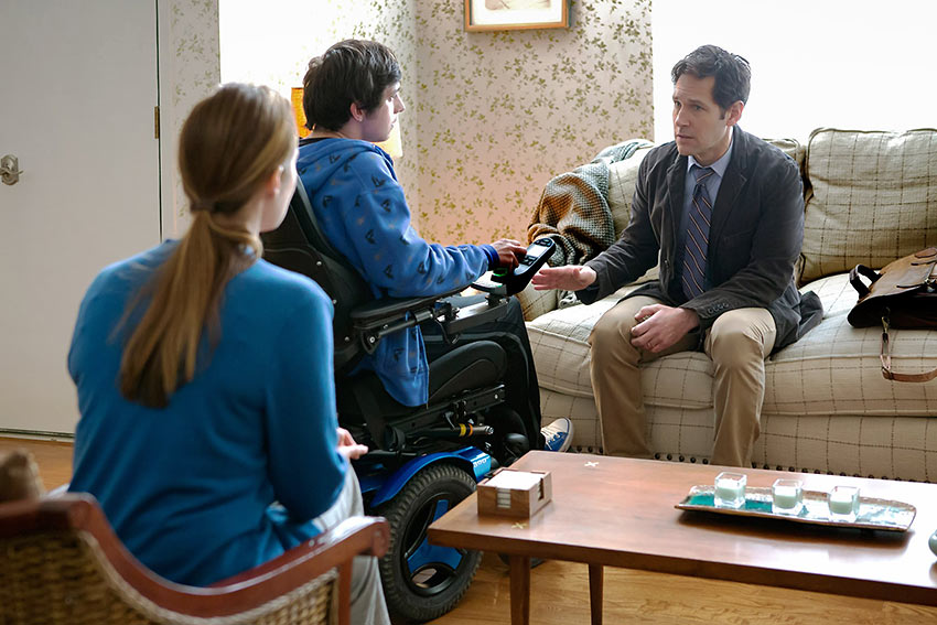 Jennifer Ehle, Craig Roberts, Paul Rudd in 'The Fundamentals of Caring'
