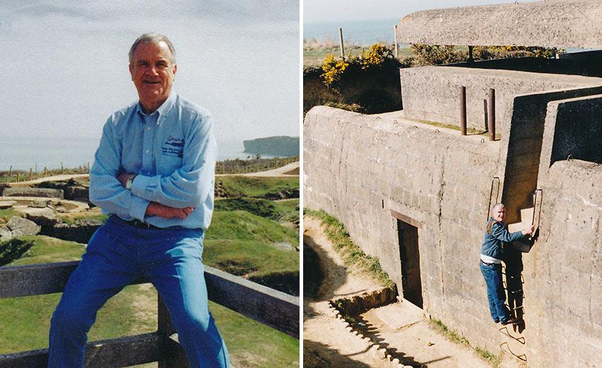John Clayton in Normandy