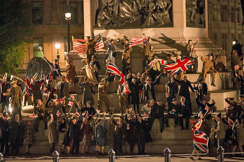 Jubilant Londoners celebrate VE Day in Trafalgar Square