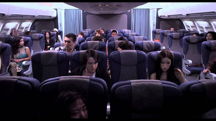 passengers of European Flight 162 in the movie 7500