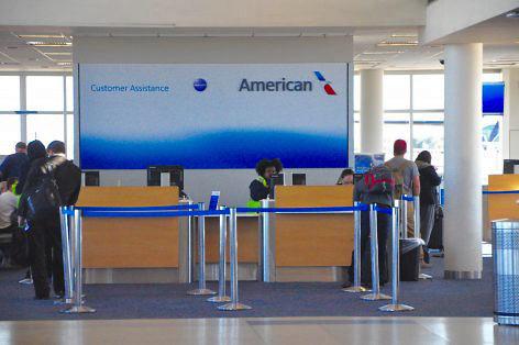 American Airlines departure