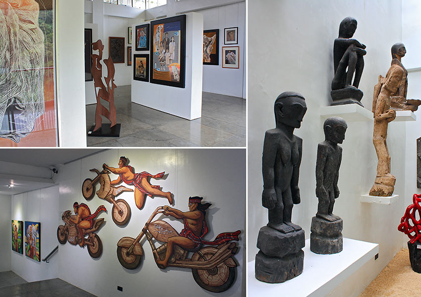 views inside the BenCab Museum in Tuba, Benguet