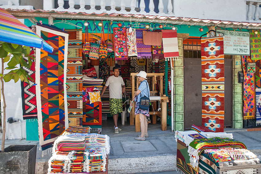 woven fabrics for sale in Bucerias, on Banderas Bay