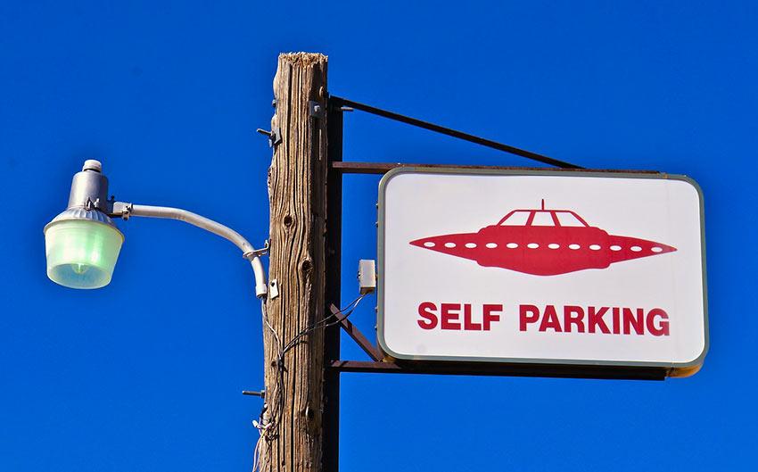 signage at the Cafe Little A'Le'Inn, Rachel, Nevada