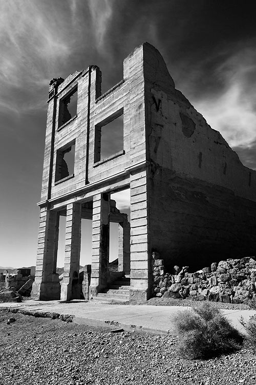 ruins of the Cook Bank, Rhyolite, Nevada