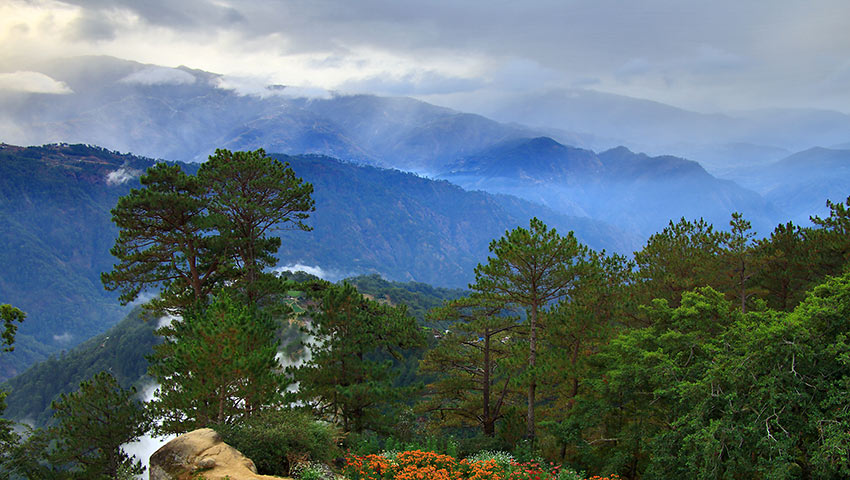 Central Cordillera mountains viewed from Atok town, Benguet
