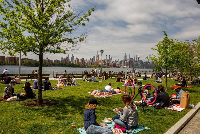 Domino Park in Brooklyn, New York