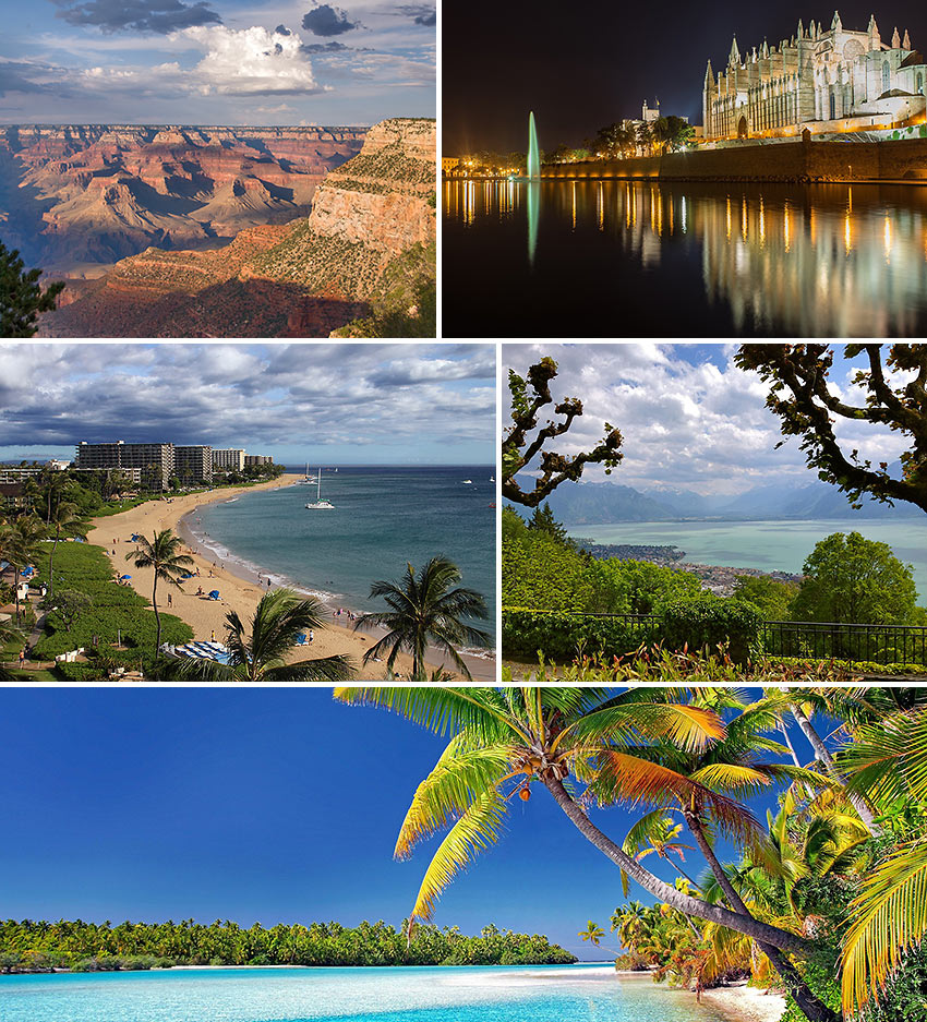 Greg Aragon's favorite places to travel