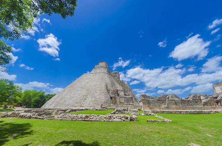 the Mayan ruins at Uxmal