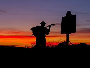 Mississippi Delta sunset blues