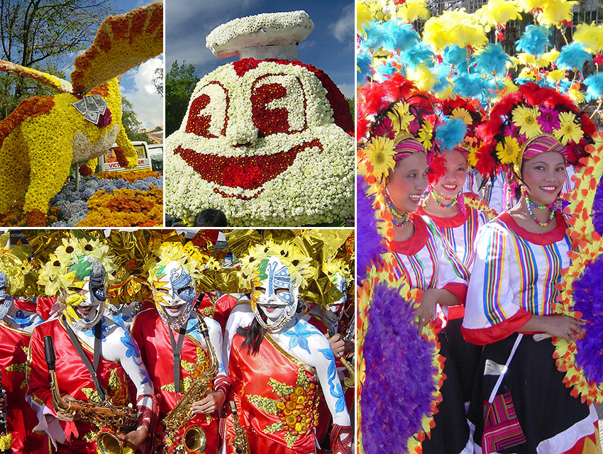 scenes from the Panagbenga Festival, Baguio