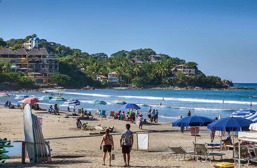 sandy beach at Rivera Nayarit