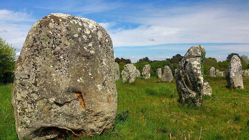 standing stones in Brittany, France