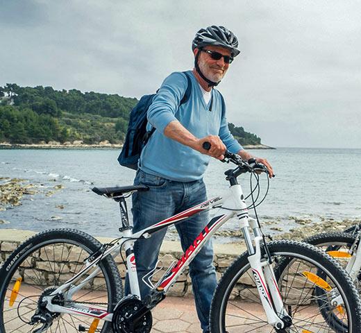 Tom Weber with bike