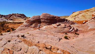 location shooting for Star Trek Generations, Valley of Fire, Nevada