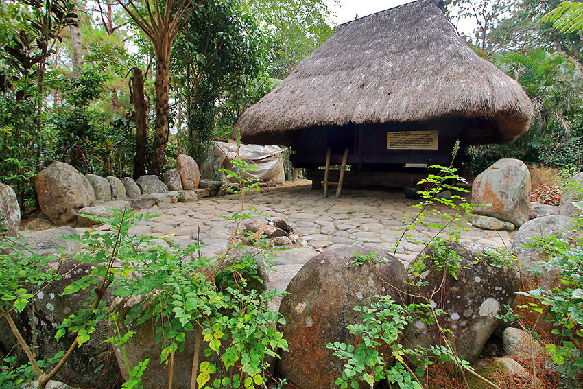 native hut at Winaca Eco Cultural Village in Tublay, Benguet