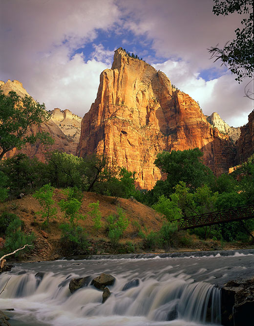 Virgin River and Court of the Patriarchs, Zion National Park, Utah