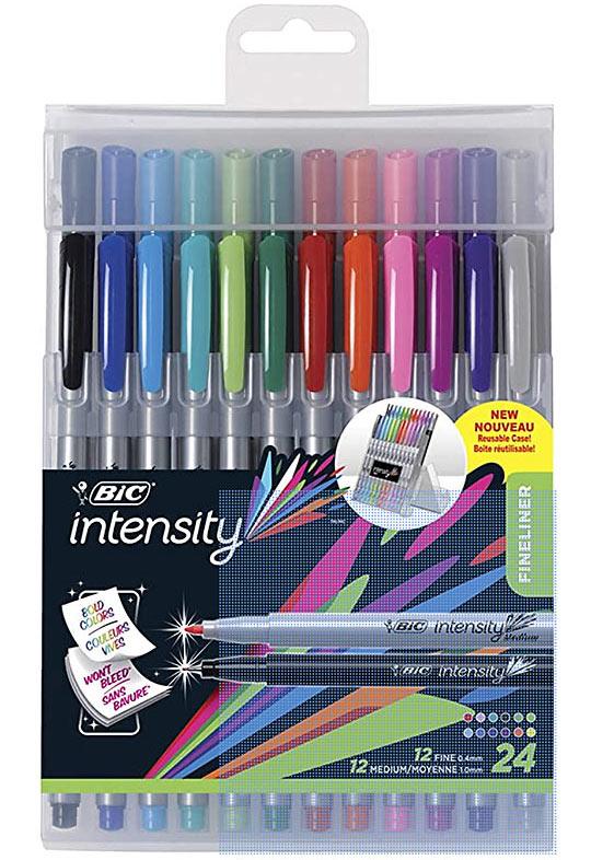 BIC Intensity Fineliner Marker Pen Easel Pack