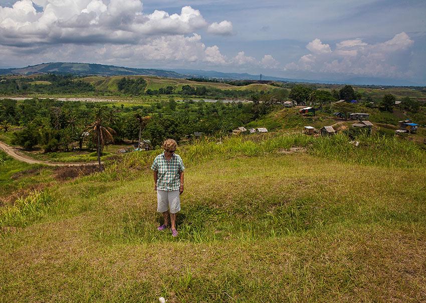 overgrown WW2 foxhole at Bloody Ridge above Honiara