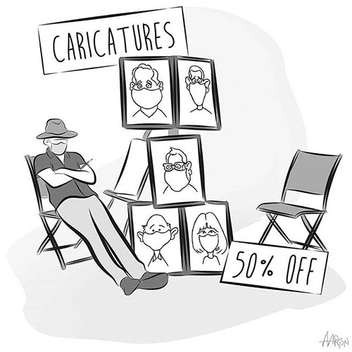 Parting Shots: Caricatures 50% Off