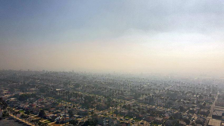 fireworks smoke blankets Los Angeles