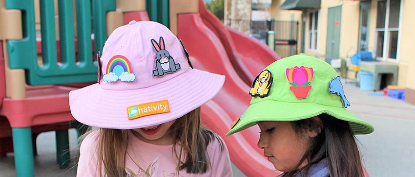 girls wearing Hatvitity hats