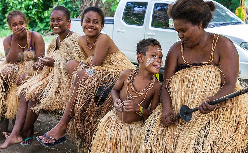 Langalanga family from Malaita Island