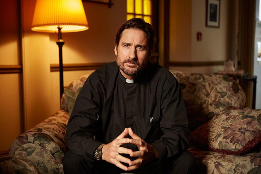 "Luke Wilson as Father Greg in Atom Egoyan's ""Guest of Honour"""