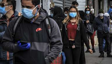 people wearing masks as Covid19 precautions