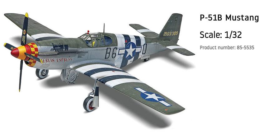 Revell P-51B Mustang model kit