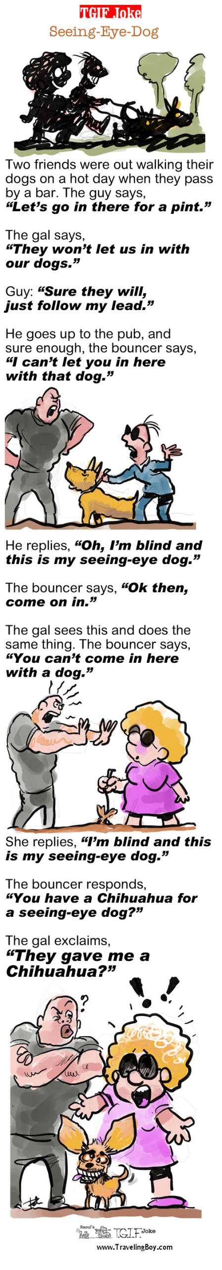 TGIF Joke of the Week: Seeing Eye Dog