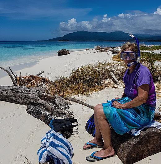 ready for snorkeling at an island near Fat Boys Resort
