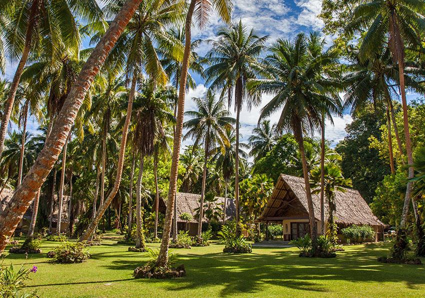 bungalows at Tavanipupu Island Resort and Spa