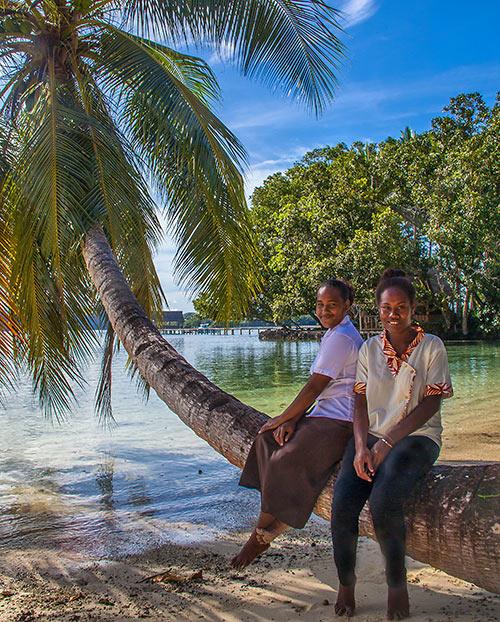 locals at Tavanipupu Island Resort