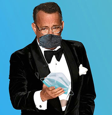 Tom Hanks in mask