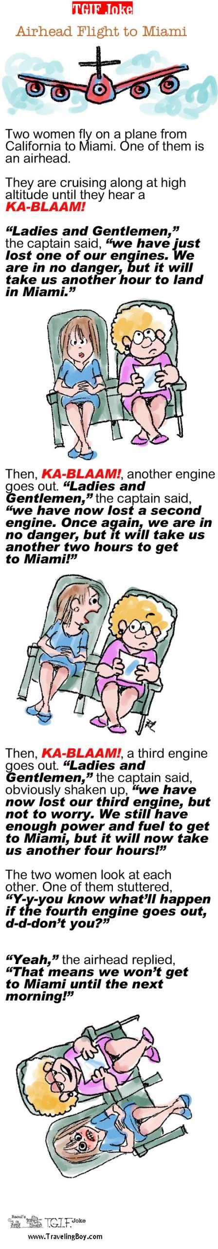 TGIF Joke of the Week: Airhead Flight to Miami