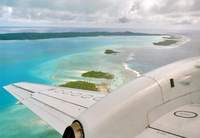aerial view of Aitutaki Atoll, Cook Islands