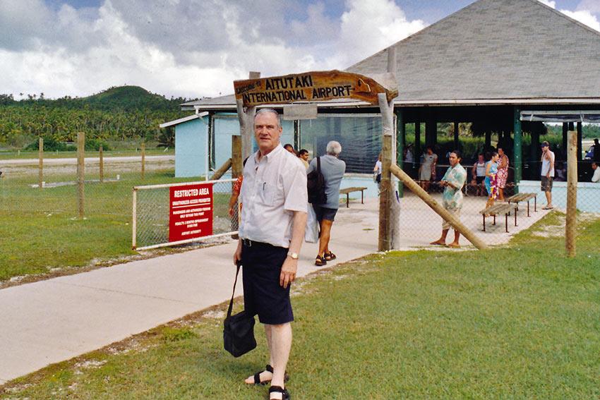 writer at Aitutaki International Airport