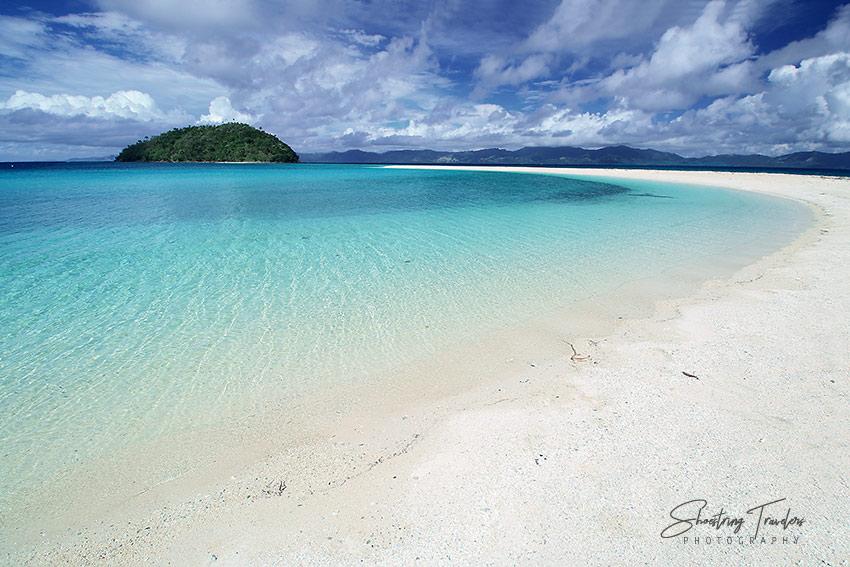 Bonbon Beach sandbar and Bangug Island