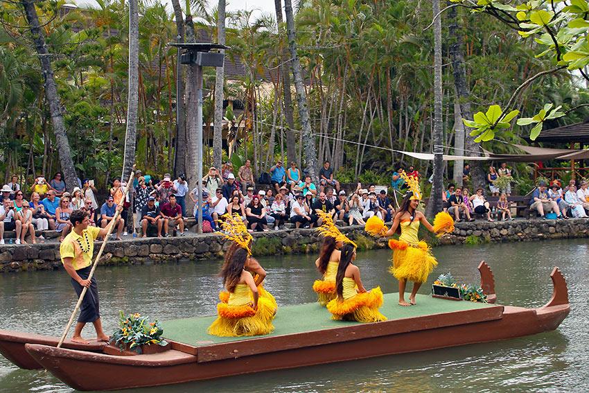 Rainbows of Paradise canoe pageant