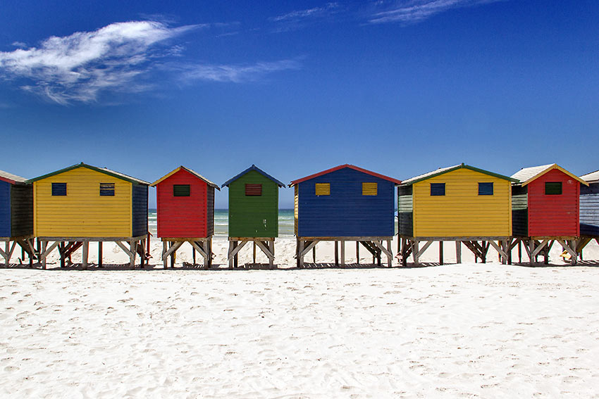 surfing beach at Muizenberg, South Africa