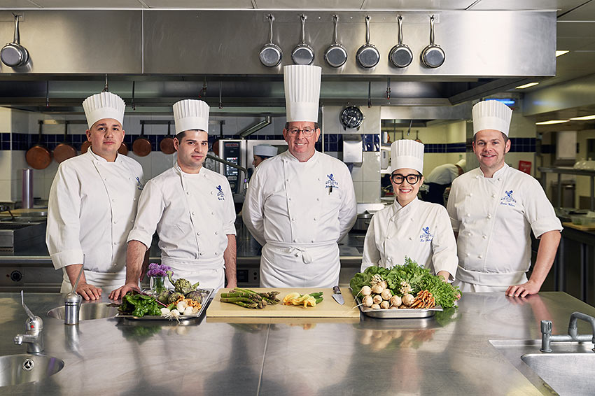 Chef John Williams with members of his team
