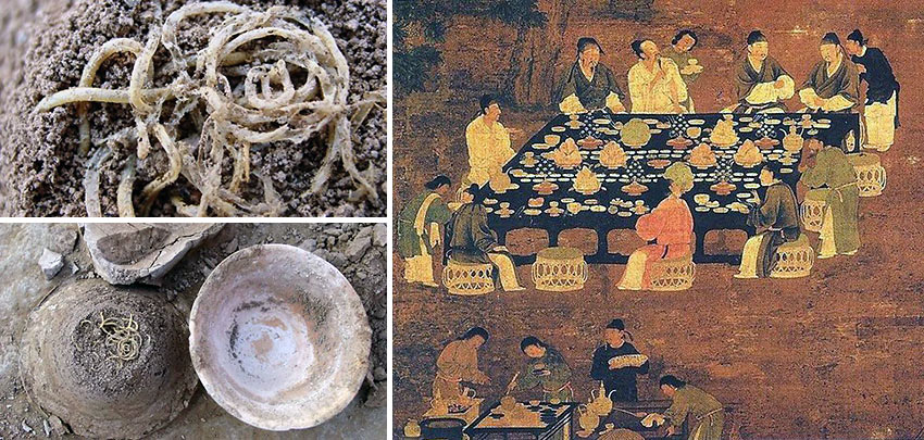 Chinese noodles archaeological findings