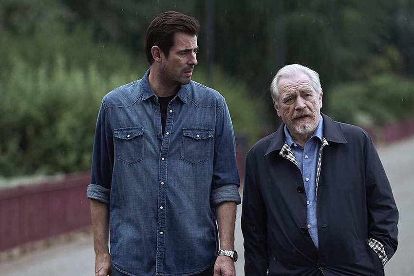 L-R: Claes Bang as Will with his father-in-law Milton, played by Brian Cox
