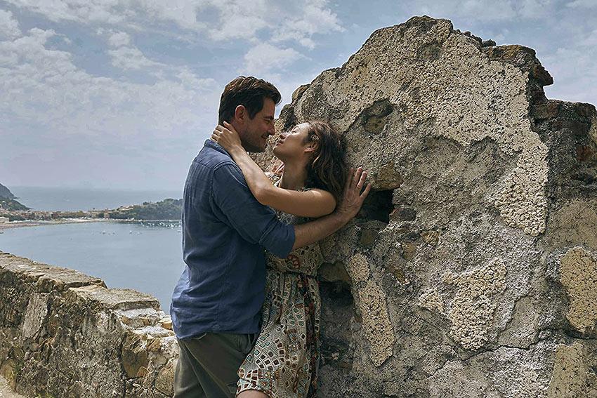 Claes Bang and Olga Kurylenko in 'The Bay of Silence'