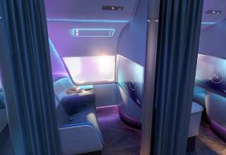 projected future airplane cabin