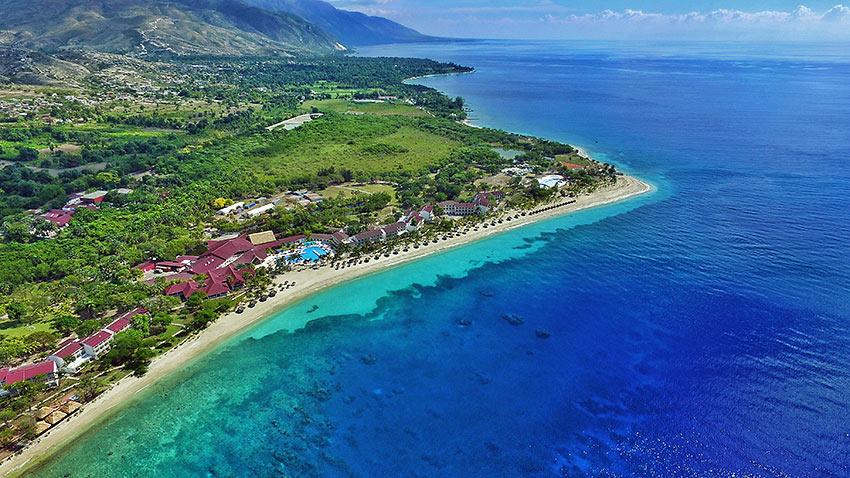 Haiti coastline