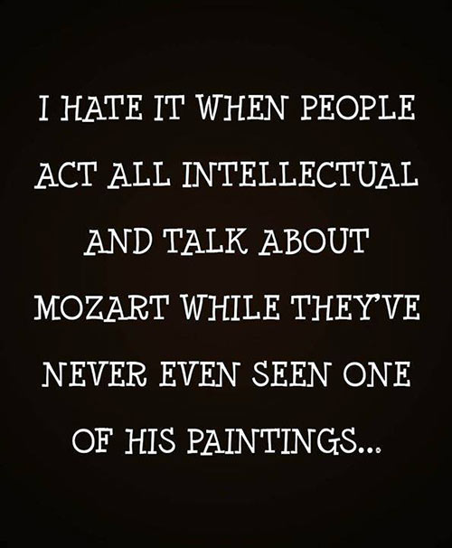 Parting Shot: Mozart and his Paintings